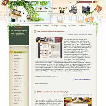 Step into Ireland Condo Blogger Template. beautiful background template blogger