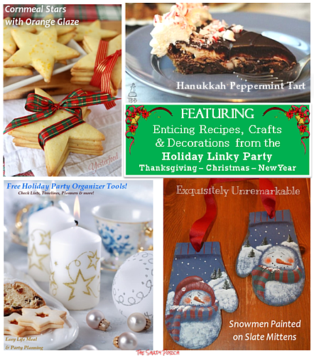 30 Day Holiday Linky Party #Christmas #Thanksgiving #NewYear #recipes #crafts #decorating #giftideas