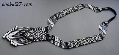 гердан черно белый узор этника славянские украшения