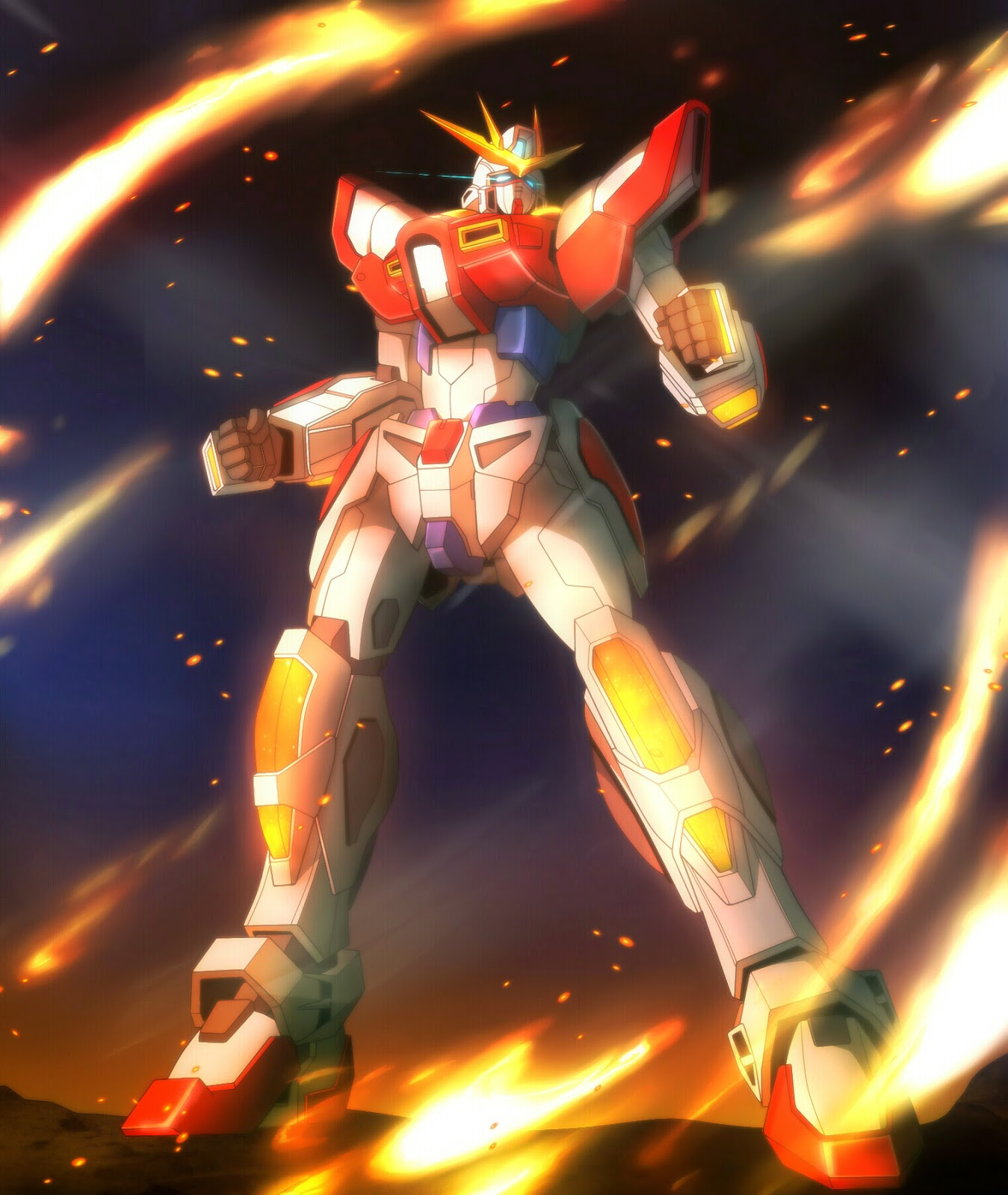 Gundam Build Fighters Try Build Burning Gundam Wallpaper Gundam Build Fighters