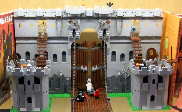 Space Station Nathan Frankensteins Lego Castle Part 2 The Gate