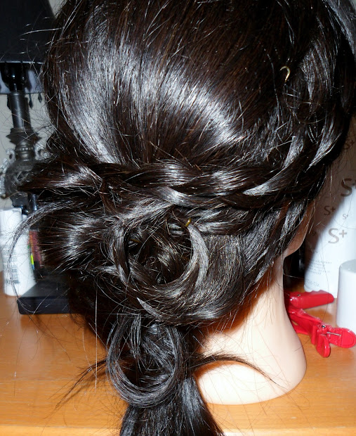 hairstyle with braid - wedding