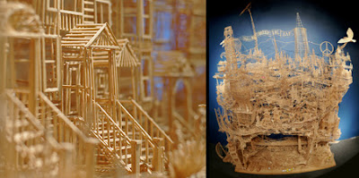 Amazing San Francisco Art made of Toothpicks Seen On www.coolpicturegallery.us