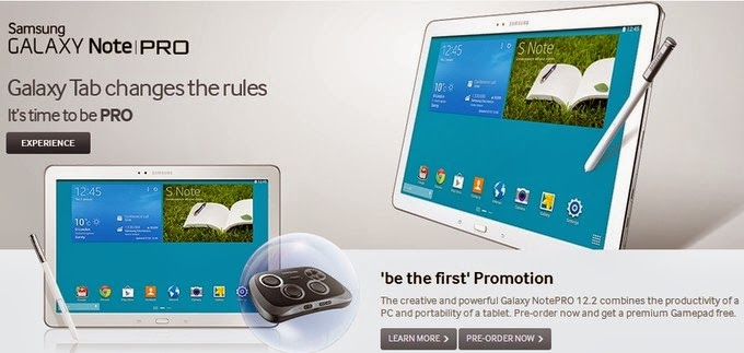 Samsung Galaxy NotePRO official pre-orders starts now, will be launched on February 4 in the UK