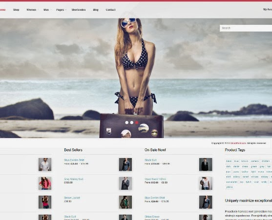 Sell Responsive eCommerce WordPress Theme