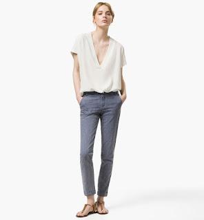 Foto de pantalón y blusa de Massimo Dutti