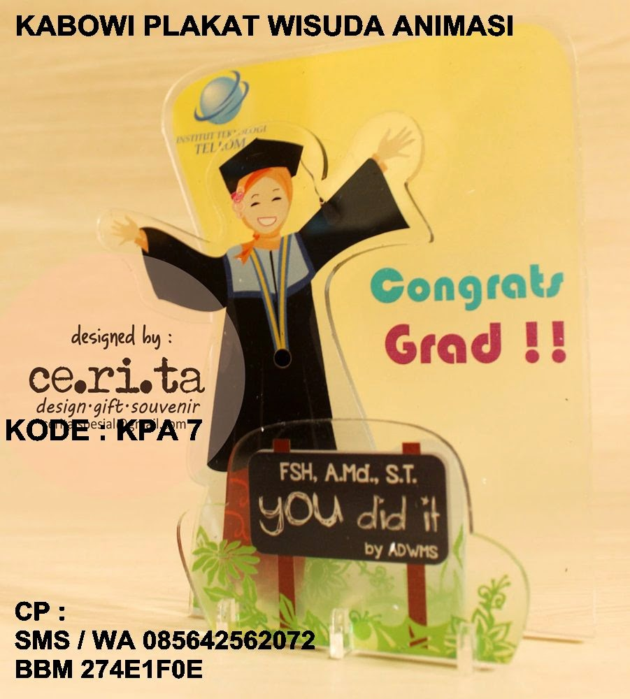 Souvenir graduation kado hadiah lulus buat sekolah dan universitas