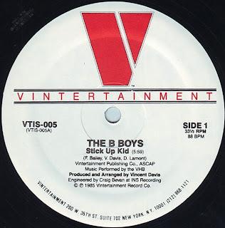 B-Boys, The - Stick Up Kid (Vinyl, 12\'\' 1985)(Vintertainment)
