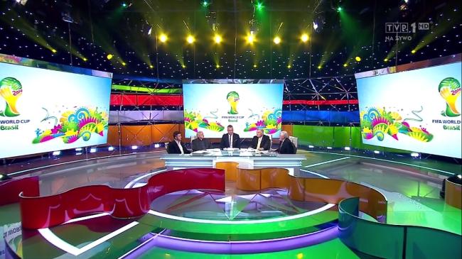 Studio TVP podczas otwarcia Mistrzostw Świata w Brazylii