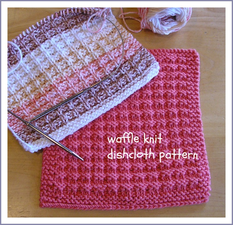 Knit Dishcloth Pattern Free : Been There. Done That.: waffle knit dishcloth pattern