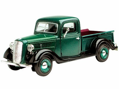 Ford Model Cars Motormax #723233D 1937 Ford Pickup Green