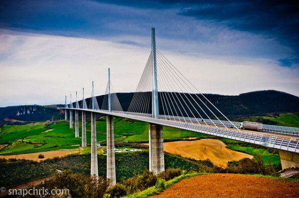 The Millau Viaduct, France by Chris Willis