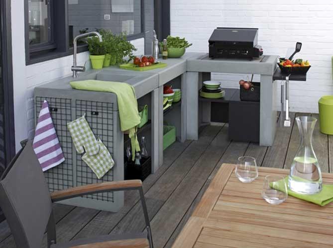 Decorando la francesa cozinhas de exterior for Plan de travail pour exterieur