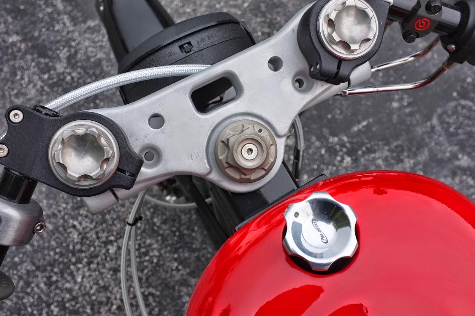 Harley FXR Clip On Handlebars