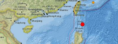 Epicentro sismo 6,0 grados Filipinas, 06 de Septiembre 2013