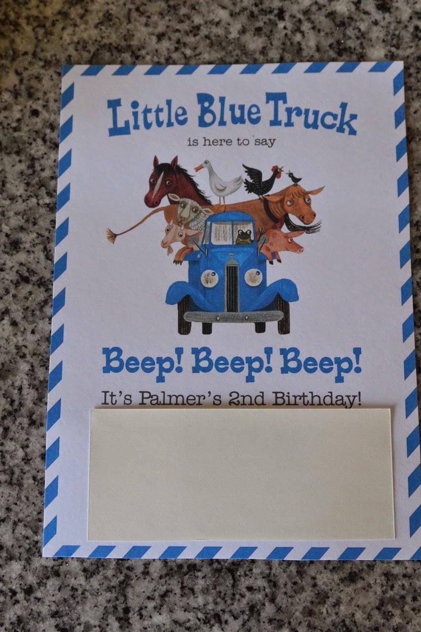 Mixin mom little blue truck birthday party invitation filmwisefo