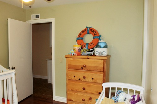 Bright nautical room- before pics