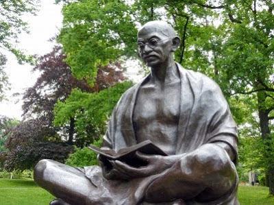 NAMC Montessori Peace Education: Mohandas Gandhi History and Activity Statue