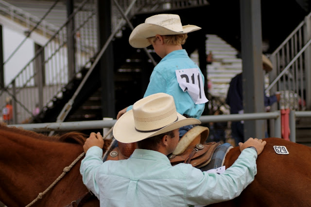 Matching papa and cowboy