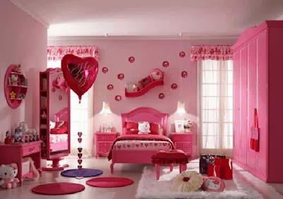 kamar tidur anak perempuan, Desain Kamar Tidur Anak Ruang Minimalis - Full Gambar