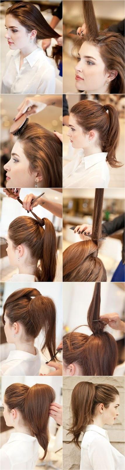 Прическа из хвостиков на средние волосы фото