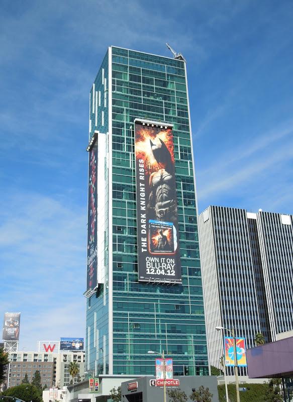 Dark Knight Rises giant BluRay billboard