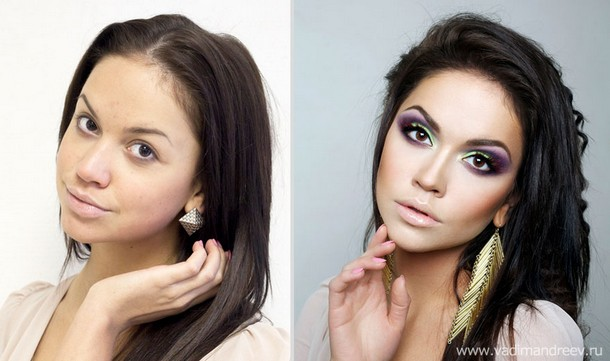 makeup photos by vadim andreev