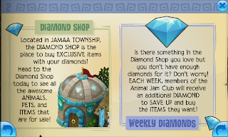 With the diamonds you can cash them in for prizes! Apparently members