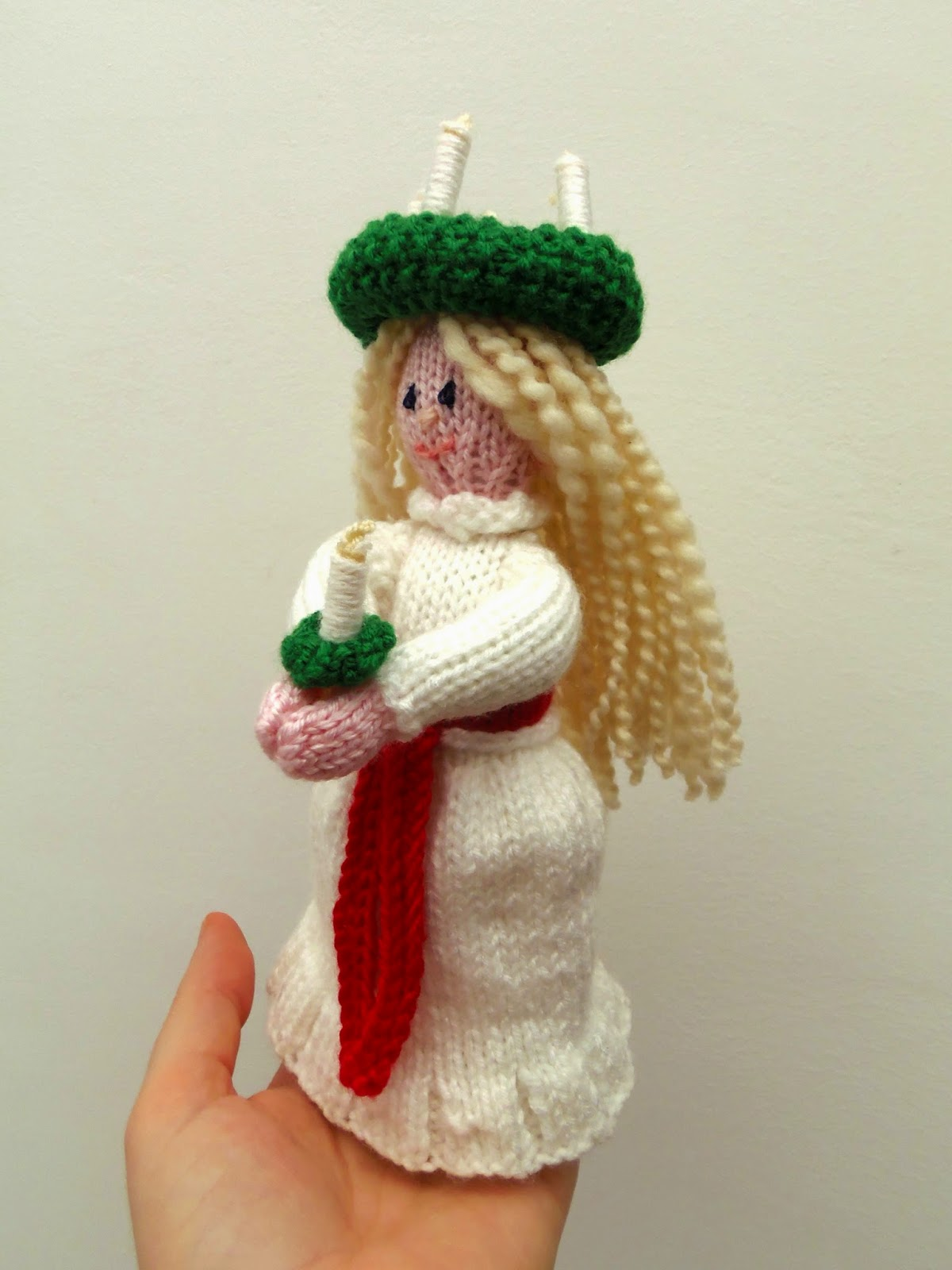 Knitted Santa Lucia doll