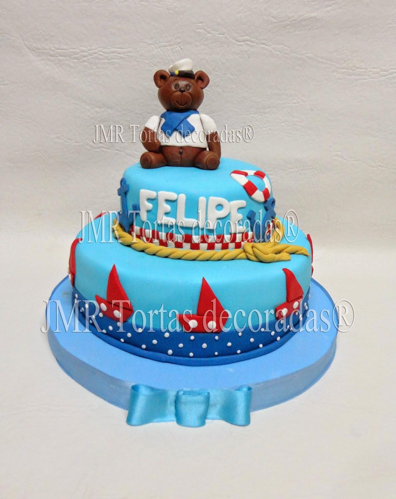 Torta Osito Marinero | JMR Tortas Decoradas