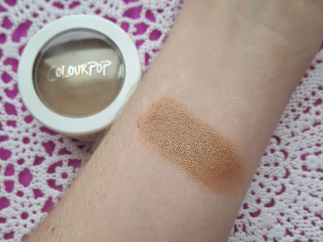 a picture of Colourpop Cosmetics Bronzer in Paradise Cove (swatch)