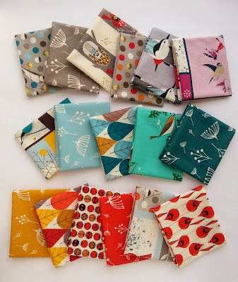 Fabrics featuring the artwork of Charley Harper