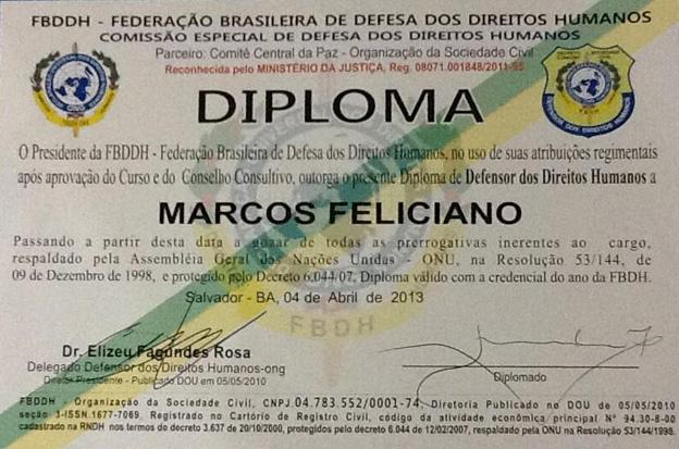 O contorno da sombra: Marco Feliciano já tem diploma de defensor ...