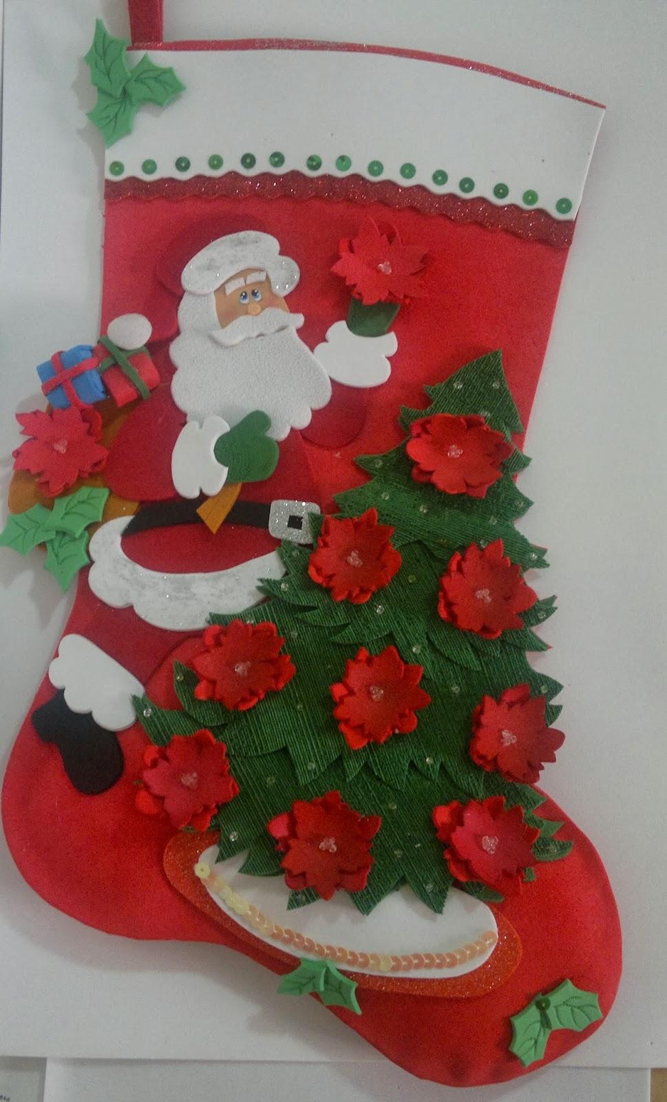 Manualidades tiendasoff botas para navidad - Manualidades en fieltro para navidad ...