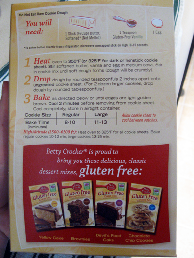 Cookie Mix Box Betty Crocker