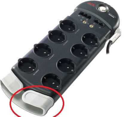 крепление для проводов сетевого фильтра