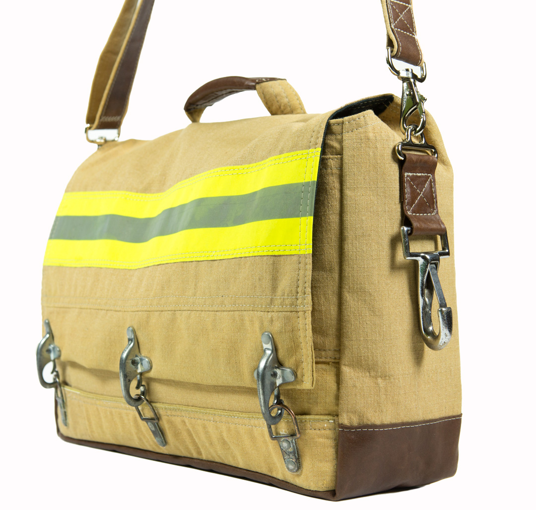 Recycled bunker gear bags - Evon Is Kindly Offering All My Readers A 15 Discount On All Her In Stock Only Items Here Simply Enter Ella15 In The Coupon Code At Checkout