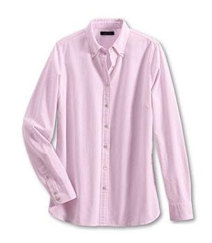 Seaside Pink Washed Oxford Stripe Shirt 1