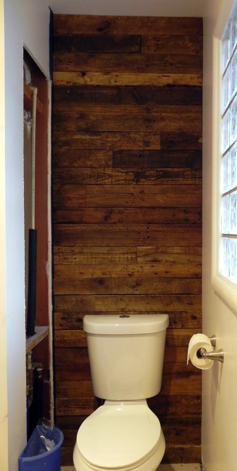 Pallet Wall Bathroom Pallet Wall Bathroom Dactus