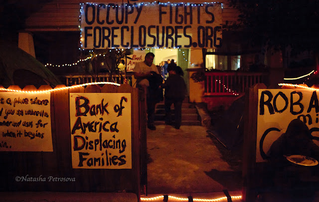 occupy, revolution, bank of america, illegal eviction, foreclosure