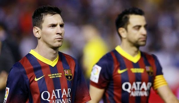 Messi junto a Xavi
