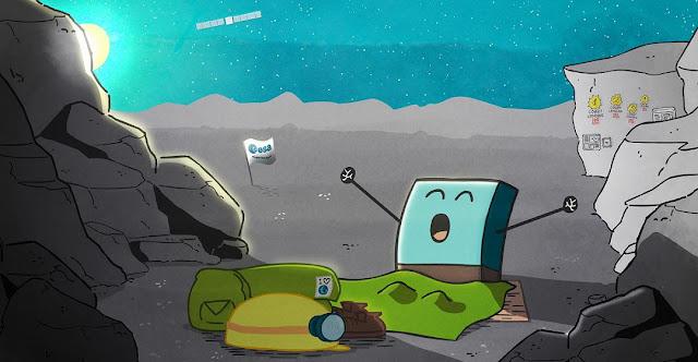 Rosetta's lander Philae wakes up from hibernation. Credit: ESA