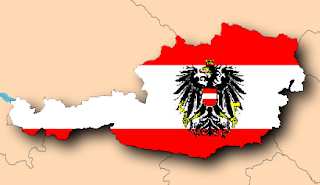 Austria - not actual size