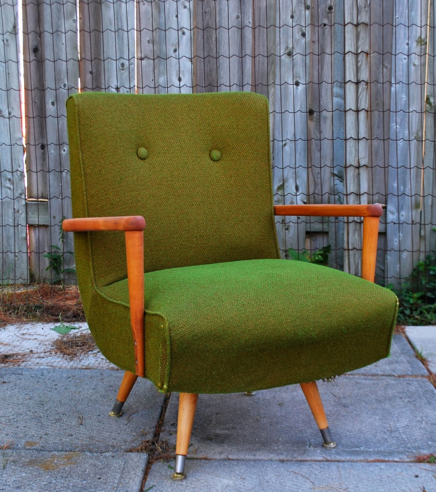 Retro Kroehler Swivel Rocker Chair