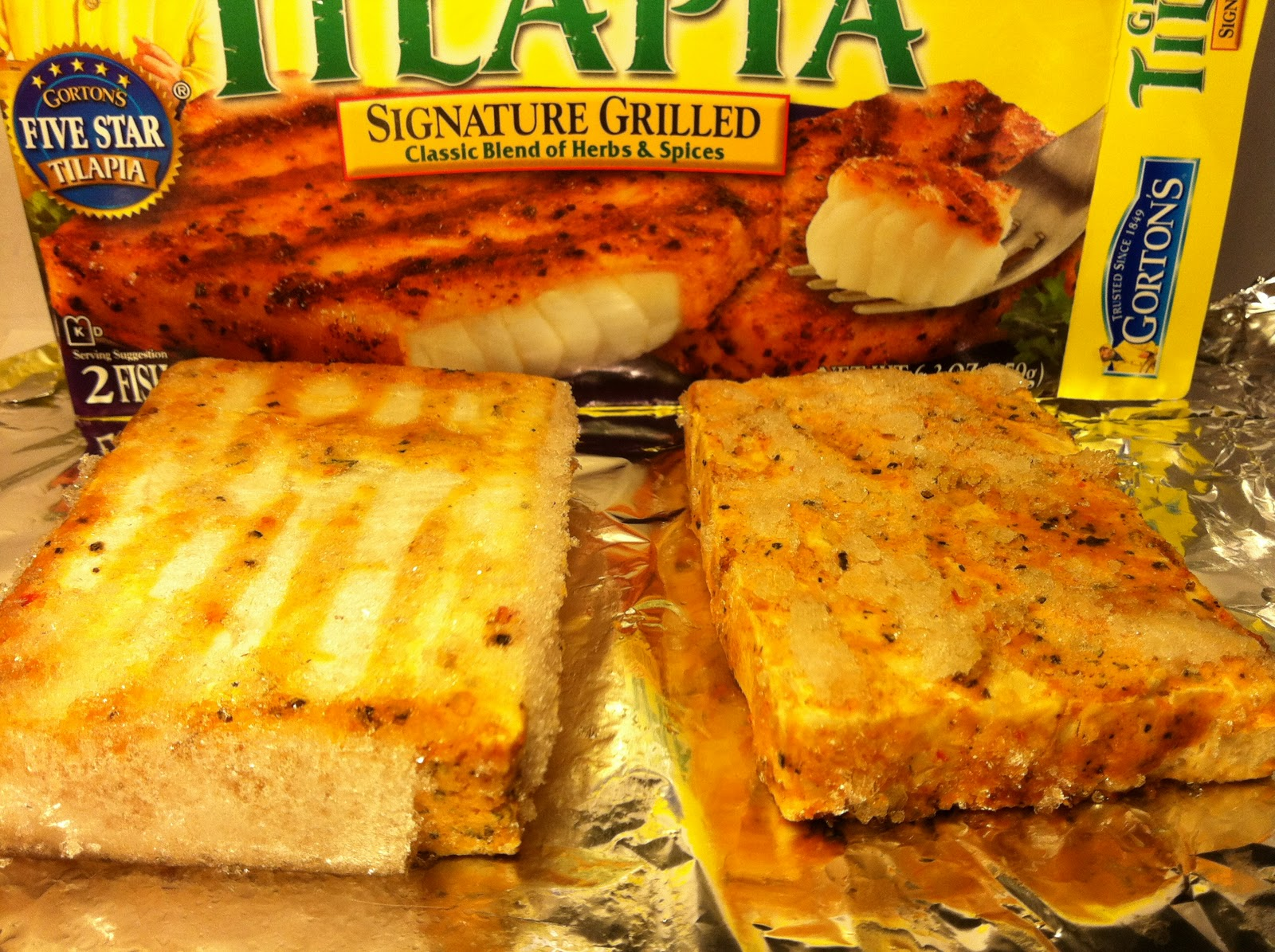 Crazy food dude review gorton 39 s tilapia signature for How to freeze fish fillets