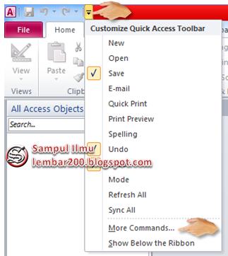 Cara Mengaktifkan Quick Access Toolbar Di access