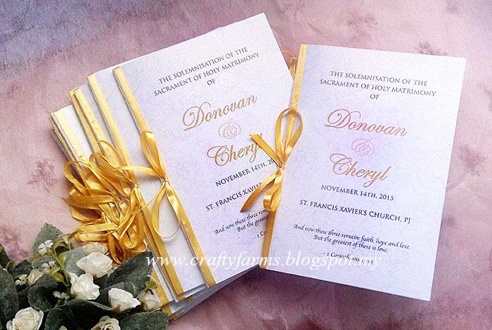 wedding card malaysia crafty farms handmade wedding ceremony