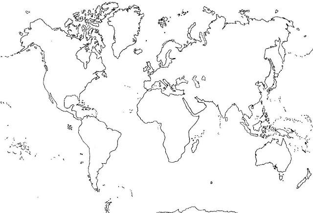 Imagen de un planisferio sin nombres - Imagui