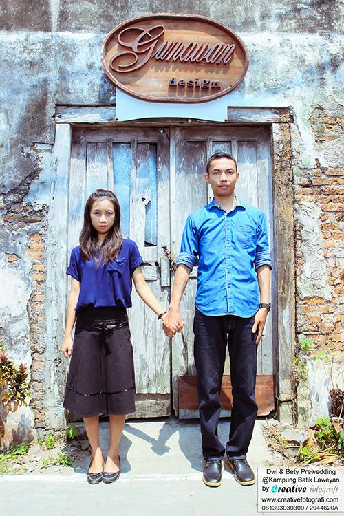 foto prewedd vintage di kampung batik laweyan