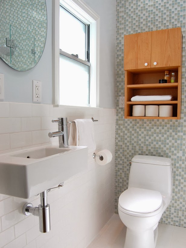 Modern furniture 2014 clever solutions for small bathrooms for Small bathroom solutions